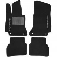 Коврики в салон для Mercedes C-class W205 '14- текстильные, черные (Стандарт)