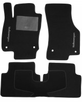 Коврики в салон для Volkswagen Passat B8 '15- текстильные, черные (Стандарт)