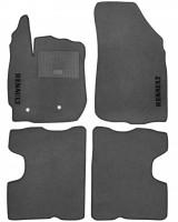 Коврики в салон для Renault Duster 2 '17- текстильные, серые (Стандарт)