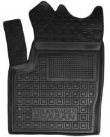 Коврик в салон водительский для Volkswagen Sharan '95-10 резиновый, черный (AVTO-Gumm)