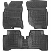 Коврики в салон для Nissan X-Trail '01-07 резиновые, черные (AVTO-Gumm)