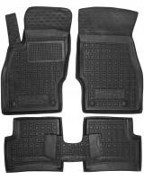 Коврики в салон для Opel Corsa D '06-14 резиновые, черные (AVTO-Gumm)