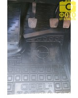 Фото 10 - Коврики в салон для Opel Zafira '99-05 резиновые, черные (AVTO-Gumm)