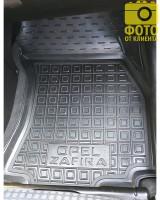 Фото 11 - Коврики в салон для Opel Zafira '99-05 резиновые, черные (AVTO-Gumm)