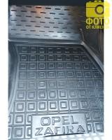 Фото 12 - Коврики в салон для Opel Zafira '99-05 резиновые, черные (AVTO-Gumm)