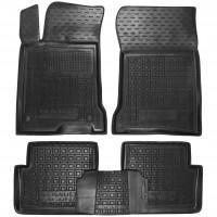 Коврики в салон для Renault Laguna '07-15 резиновые, черные (AVTO-Gumm)