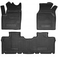 Коврики в салон для Volkswagen Sharan '95-10 резиновые, черные (AVTO-Gumm)