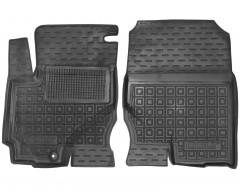Коврики в салон передние для Mitsubishi Colt '03-09 резиновые, черные (AVTO-Gumm)