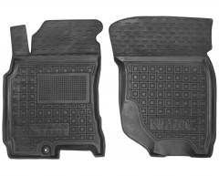 Коврики в салон передние для Nissan X-Trail '01-07 резиновые, черные (AVTO-Gumm)