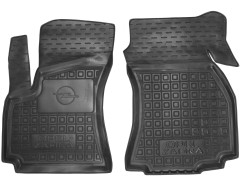 Коврики в салон передние для Opel Zafira '99-05 резиновые, черные (AVTO-Gumm)