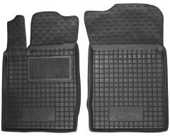 Коврики в салон передние для Renault Clio II '01-12 резиновые, черные (AVTO-Gumm)