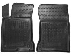 Коврики в салон передние для Renault Laguna '07-15 резиновые, черные (AVTO-Gumm)