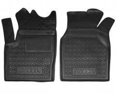 Коврики в салон передние для Volkswagen Sharan '95-10 резиновые, черные (AVTO-Gumm)