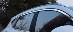 Фото 1 - Накладки (молдинги) окон для Hyundai Tucson '15-, верхние, хром (ASP)