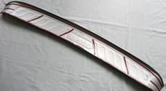 Фото 5 - Накладка на задний бампер для Nissan X-Trail (T32) '17-,  нержавеющая сталь, тип E (ASP)