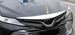 Фото 4 - Накладка на капот для Toyota Camry V70 '18-, хром (ASP)