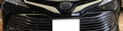 Накладка на решетку радиатора для Toyota Camry V70 '18-, верхняя, хром  (ASP)