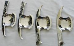 Накладки под дверные ручки для Toyota Camry V70 '18-, хром, тип B (ASP)