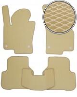 Коврики в салон для Volkswagen Passat B6 '05-10, EVA-полимерные, бежевые (Kinetic)