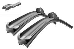 Щётки стеклоочистителя бескаркасные Bosch AeroTwin 700 и 340 мм. PushButton 19мм. (к-кт) A 404 S