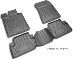 Коврики в салон для Saab 9-3 '07-13 полиуретановые, черные (Novline / Element)