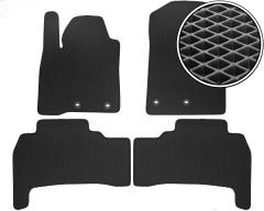 Коврики в салон для Toyota Land Cruiser 200 '12-, EVA-полимерные, черные (Kinetic)