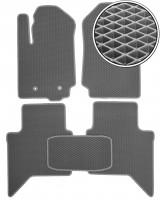 Коврики в салон для Ford Ranger '11-, EVA-полимерные, серые (Kinetic)