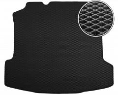Коврик в багажник для Volkswagen Polo '10- седан, EVA-полимерный, черный (Kinetic)