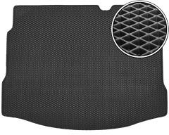 Коврик в багажник для Nissan Qashqai '06-14 с докаткой, EVA-полимерный, черный (Kinetic)