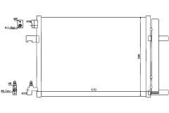 Радиатор охлаждения двигателя для OPEL (Nissens) NIS 940134