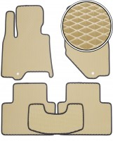 Коврики в салон для Infiniti QX50 '15-18, EVA-полимерные, бежевые с черной тесьмой (Kinetic)
