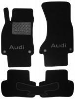 Коврики в салон для Audi A5 '07- Sportback текстильные, черные (Премиум) 4 клипсы