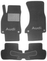 Коврики в салон для Audi A5 '07- Sportback текстильные, серые (Премиум) 4 клипсы
