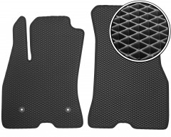 Коврики в салон передние для Opel Combo '12-, EVA-полимерные, черные (Kinetic)