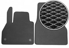Коврики в салон передние для Renault Kangoo '09-, EVA-полимерные, черные (Kinetic)