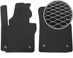 Коврики в салон передние для Volkswagen Caddy '04-15, EVA-полимерные, черные (Kinetic)