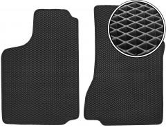 Коврики в салон передние для Volkswagen Caddy '95-04, EVA-полимерные, черные (Kinetic)