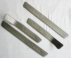 Накладки на пороги Nissan X-Trail (T32) '14-, тип A (ASP)