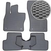 Коврики в салон для Volkswagen Golf VII '12-, EVA-полимерные, серые с черной тесьмой (Kinetic)
