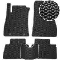 Коврики в салон для Nissan Juke '11-, EVA-полимерные, черные с серой тесьмой (Kinetic)