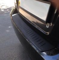 Накладка на задний бампер для Chevrolet Aveo '06-11 T250, полиуретановая (ASP)
