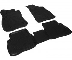 Коврики в салон для Opel Combo '12-, полиуретановые, черные (Lada Locker)