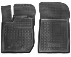 Коврики в салон передние для Lada (Ваз) XRAY '15- резиновые, черные (AVTO-Gumm)
