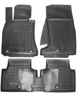 Коврики в салон для Kia Stinger '17- резиновые, черные (AVTO-Gumm)
