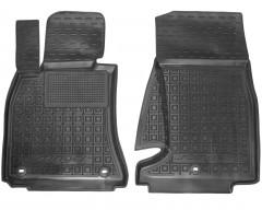 Коврики в салон передние для Kia Stinger '17- резиновые, черные (AVTO-Gumm)