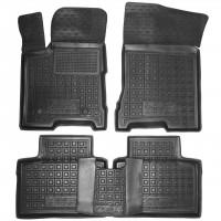 Коврики в салон для Lada (Ваз) Vesta '15-, Cross резиновые, черные (AVTO-Gumm)