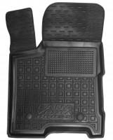 Коврик в салон водительский для Lada (Ваз) Vesta '15-, Cross резиновый, черный (AVTO-Gumm)