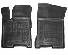 Коврики в салон передние для Lada (Ваз) Vesta '15-, Cross резиновые, черные (AVTO-Gumm)