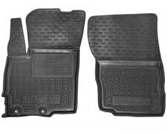 Коврики в салон передние для Mitsubishi Eclipse Cross '18- резиновые, черные (AVTO-Gumm)