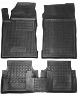 Коврики в салон для Peugeot 605 '88-99 резиновые, черные (AVTO-Gumm)